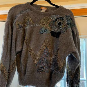 Krizia Maglia 1970s vintage angora sweater